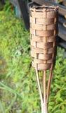 Bambusowa koszykarska świeczka obrazy royalty free