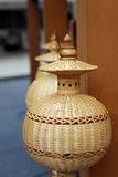Bambusowa lampa Zdjęcie Royalty Free