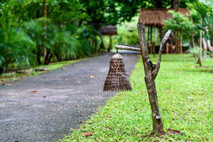 Bambusowa lampa Obraz Stock