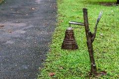 Bambusowa lampa Zdjęcia Royalty Free