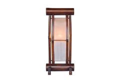 Bambusowa lampa odizolowywająca Zdjęcia Royalty Free