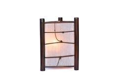 Bambusowa lampa odizolowywająca Fotografia Stock