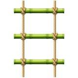 Bambusowa linowa drabina Zdjęcie Royalty Free