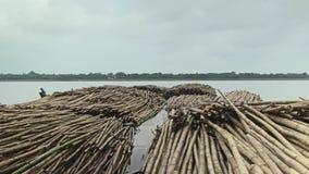 Bambusowa tratwa, bambus, bambusowy chińczyk, Asia zbiory wideo