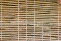 Bambusowa zasłona na okno obrazy royalty free