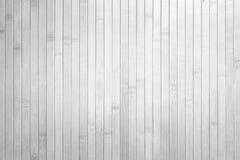 Bambusowego białego tekstury ściany tła odgórny widok Zdjęcie Stock