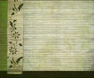 bambusowego sztandaru kwiecisty zielony druku biel Zdjęcia Stock