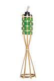 Bambusowej pochodni nafciana lampa Zdjęcia Stock