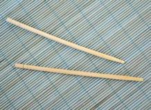 bambusowi chińczyka maty kije Obraz Stock