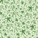 Bambusowi liście zielenieją bezszwowego wzór Fotografia Royalty Free