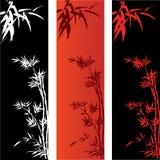 Bambusowi sztandary Zdjęcia Royalty Free