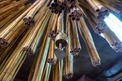 Bambusowi Wiatrowi kuranty i Żelazny dzwon Zdjęcia Royalty Free