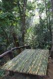 Bambusowy łóżko Zdjęcie Stock