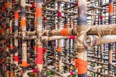 Bambusowy budowa projekt Fotografia Royalty Free