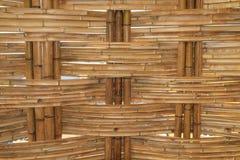 Bambusowy budowy wnętrza widok Zdjęcia Stock
