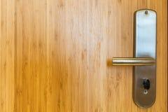 Bambusowy drewniany drzwiowy zbliżenie Zdjęcia Stock