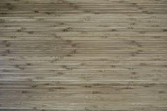 Bambusowy drewniany płaskiej powierzchni tło Obrazy Royalty Free