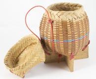 Bambusowy drewniany ryżu pudełko. obraz stock