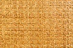 Bambusowy drewniany wyplata tekstury tło Obraz Royalty Free