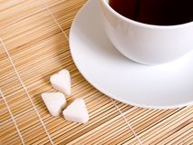 bambusowy filiżanki cukieru biel Zdjęcie Royalty Free