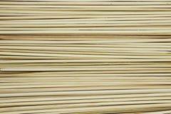 Bambusowy kija Skewer wtyka dla piec na grillu lub grilla tła tekstury fotografia stock
