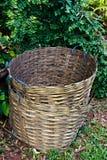 Bambusowy kosz Zdjęcie Stock