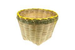 Bambusowy kosz Zdjęcie Royalty Free