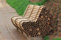 Bambusowy krzesło zdjęcie royalty free