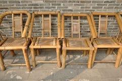 Bambusowy krzesło Fotografia Royalty Free