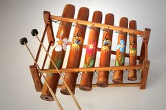 bambusowy ksylofon Fotografia Stock