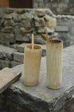 Bambusowy kubek Obrazy Royalty Free