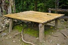 Bambusowy miejsca siedzące Obrazy Royalty Free