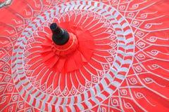Bambusowy parasol Fotografia Stock