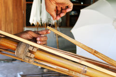 Bambusowy parasol Zdjęcie Stock