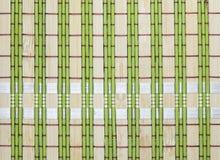 Bambusowy placemat tło Bambusów zieleni tablecloths Obrazy Royalty Free