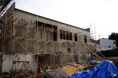 Bambusowy pracy miejsce dla domowej budowy zdjęcie royalty free