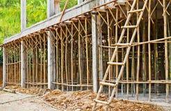 Bambusowy rusztowanie Obrazy Royalty Free