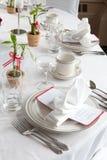 bambusowy setu stołu ślub Zdjęcia Royalty Free