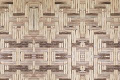 Bambusowy stary wyplata ściennej tekstury pięknego deseniowego tło Obraz Stock