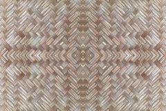 Bambusowy stary wyplata ściennej tekstury pięknego deseniowego tło Obraz Royalty Free