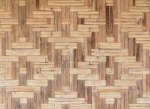 Bambusowy stary wyplata ściennej tekstury pięknego deseniowego tło Obrazy Stock