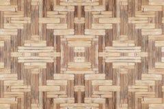 Bambusowy stary wyplata ściennej tekstury pięknego deseniowego tło Obrazy Royalty Free