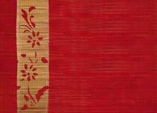 bambusowy sztandaru kwiatu czerwieni drewno Zdjęcie Stock