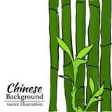 Bambusowy tło dla druku, skrót, filiżanka również zwrócić corel ilustracji wektora Zdjęcie Stock