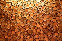 Bambusowy tło w przekroju poprzecznego stylu Zdjęcie Stock