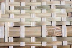 Bambusowy wyplatający rodzimy tajlandzki styl Ja Zdjęcia Stock