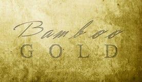 Bambusowy złoto Obraz Stock