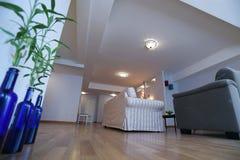 Bambuspalme im Wohnzimmer Stockbild