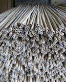 Bambuspfosten und Stöcke Stockbild
