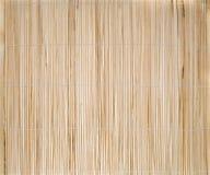 Bambusplatzmatte Stockfoto